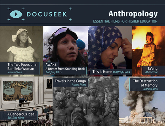 Docuseek Promotional Postcard for Anthropology