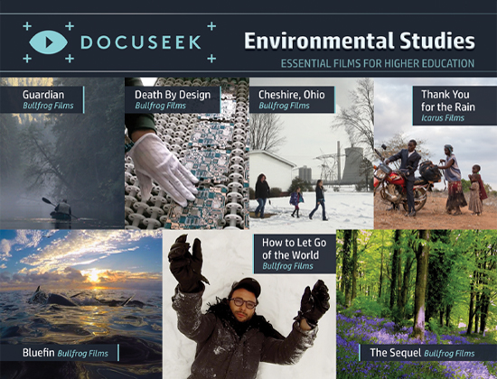 Docuseek Promotional Postcard for Environmental Studies