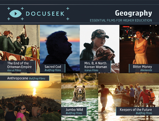 Docuseek Promotional Postcard for Geography