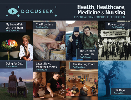 Docuseek Promotional Postcard for Healthcare