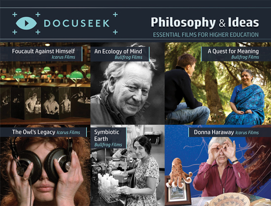 Docuseek Promotional Postcard for Philosophy