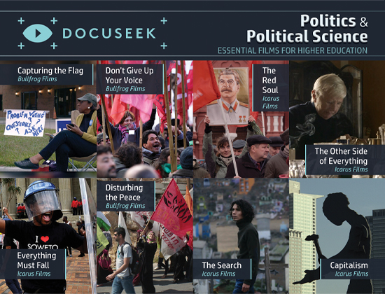 Docuseek Promotional Postcard for Political Science