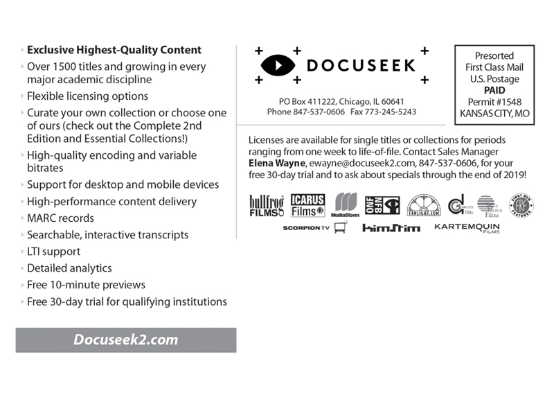 Docuseek Postcard Mailer back