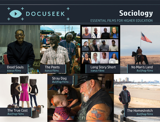 Docuseek Promotional Postcard for Sociology