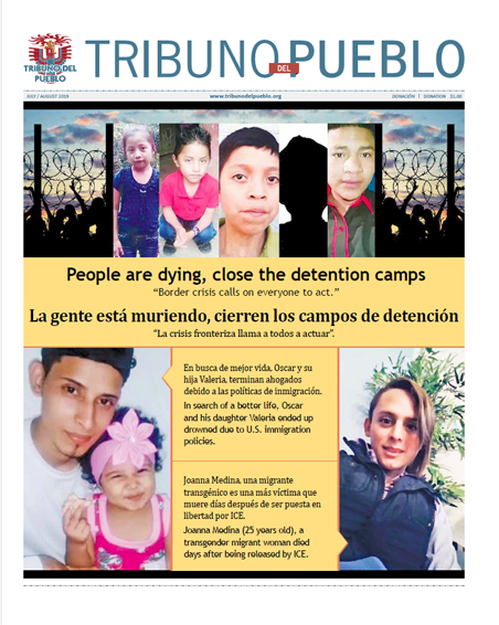 Tribuno Del Pueblo July August 2019 - front cover