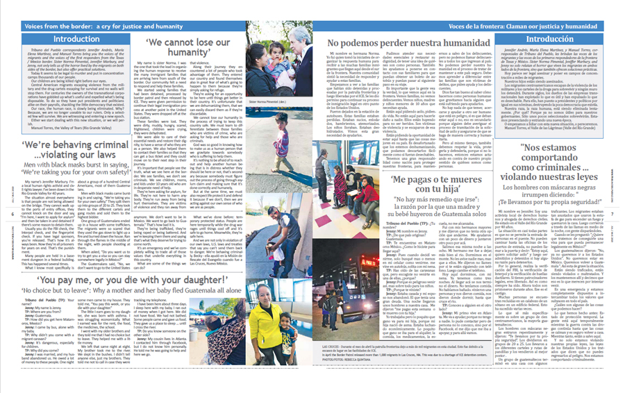Tribuno Del Pueblo July August 2019 - pages 6 and 7