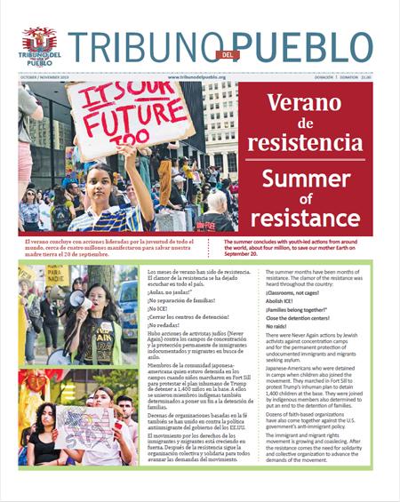 Tribuno Del Pueblo October November 2019 - front cover