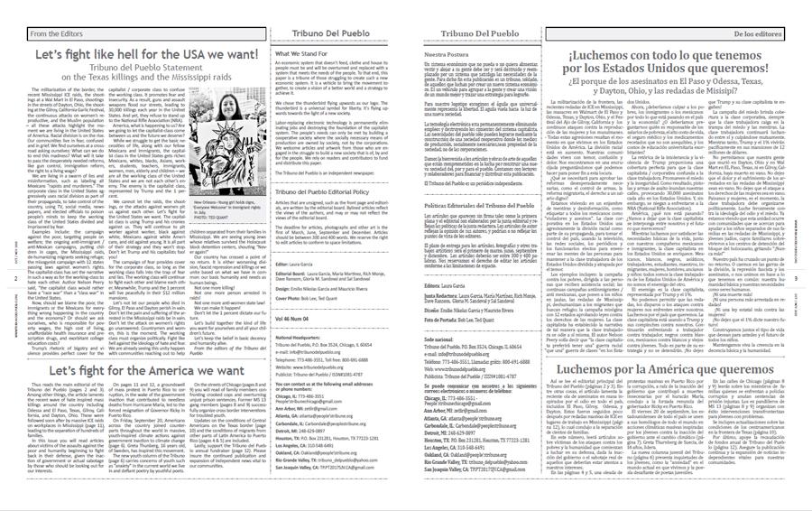 Tribuno Del Pueblo October November 2019 - pages 2 and 3