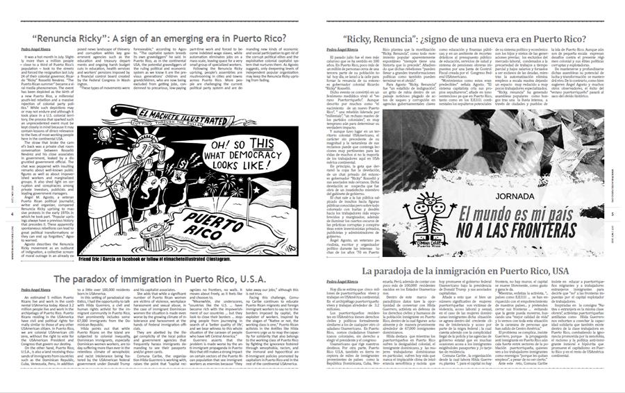 Tribuno Del Pueblo October November 2019 - pages 4 and 5