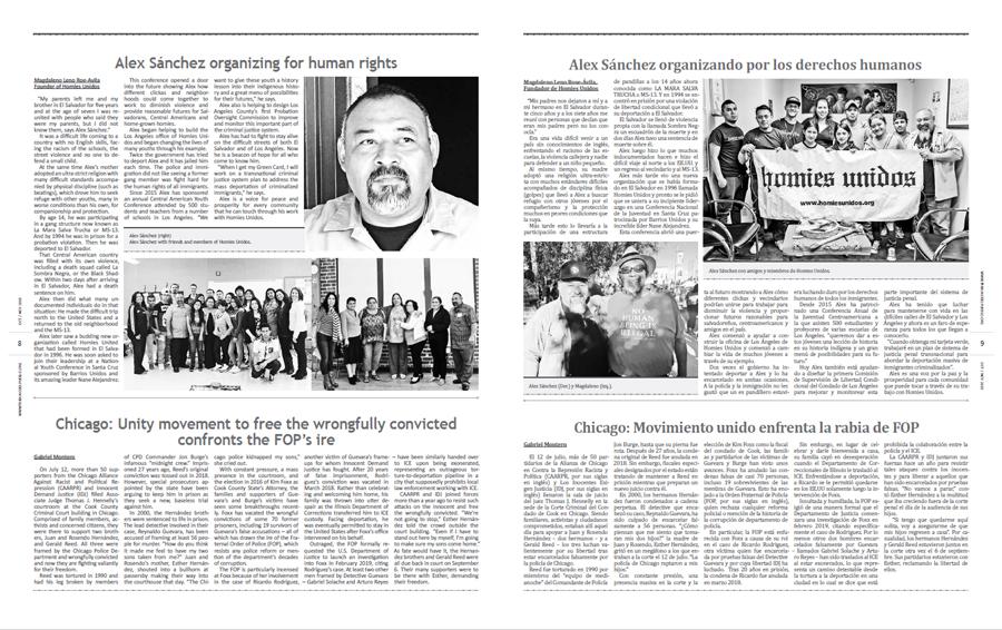 Tribuno Del Pueblo October November 2019 - pages 8 and 9