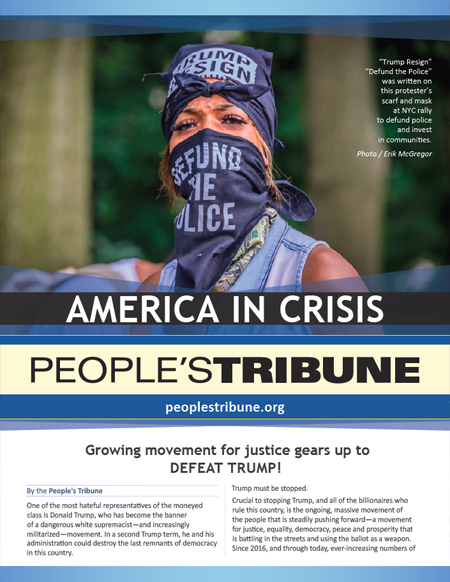 People's Tribune August 2020 Promotional Flyer front page