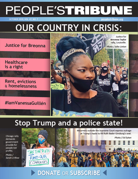 People's Tribune – October 2020 Digital Magazine cover