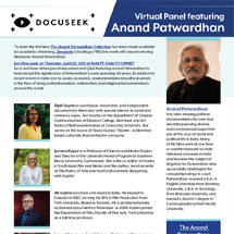 Anand Patwardhan flyer